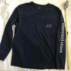 Vineyard Vines long sleeve pocket T shirt